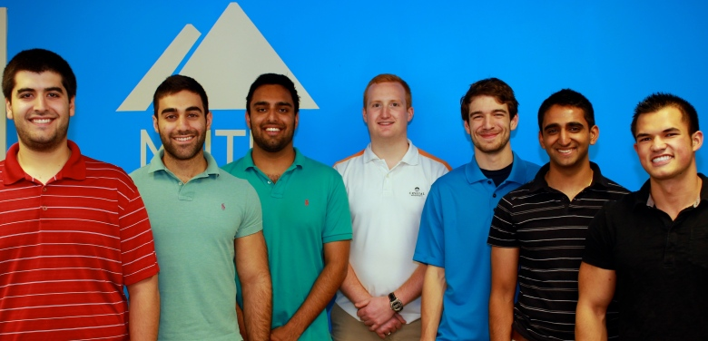 The Mountain Labs team. From right to left: David Middleton (LSA '15), Rahul Iyengar (BSE '14), Aaron Schwartz, Alex VanDerKolk (BBA '13), Nikhil Kumar (BSE '14), George Zakhem (LSA '14), and Max Wolff (BSE '14). Not pictured: Siegfried Martin (BSE '15)